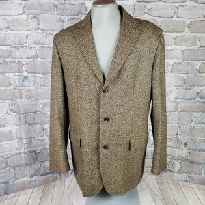 Hugo Boss NZ Merino Wool Sport Coat Size 054 Tweed